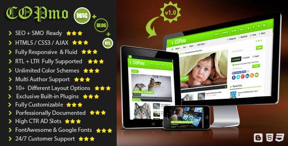 COPmo responsive blogger template