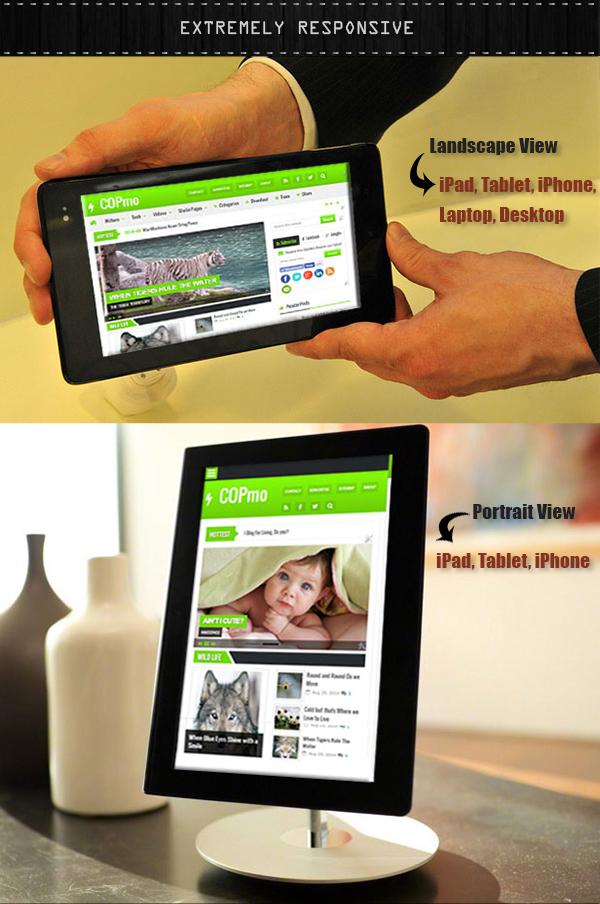 Mobile Responsive Blogger Template -COPmo